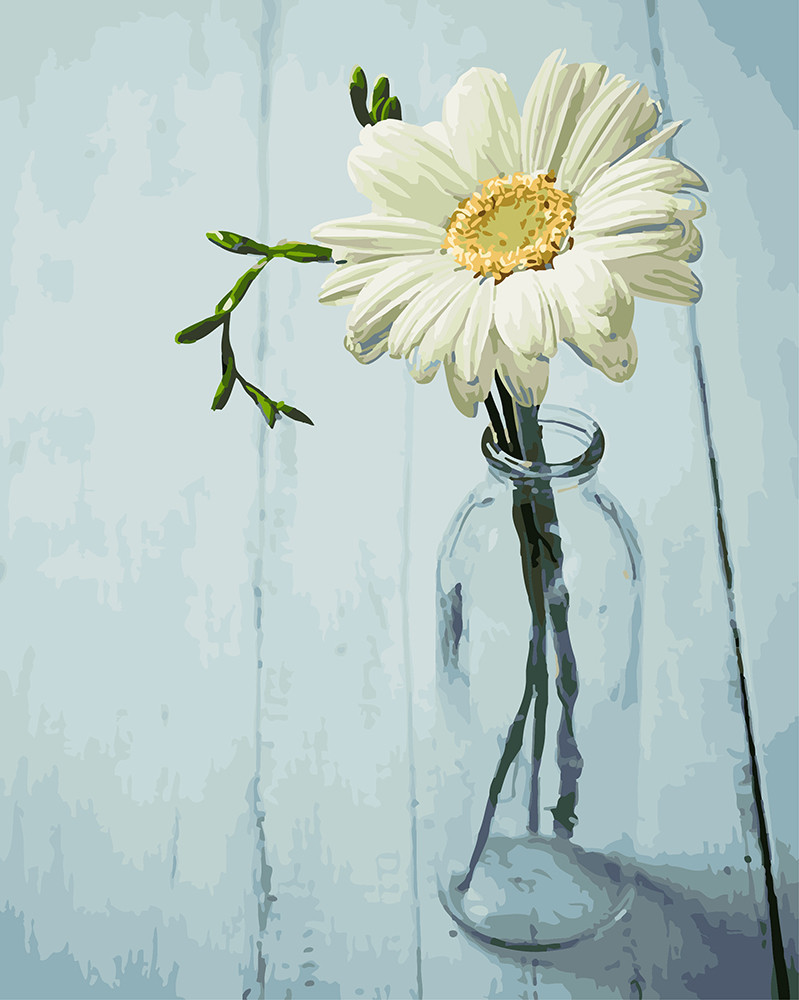 Картина по номерам Ромашка в вазочке 40 х 50 см (BRM4777)