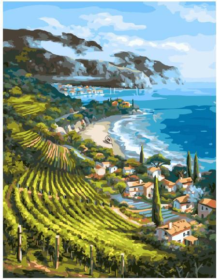 Картина по номерам Виноградники Италии 40 х 50 см (BRM4960)