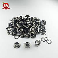 Люверсы для одежды 5мм (№3), Темный никель, Турция (100шт)