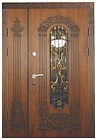 Двери уличные, модель 15 Стандарт 1170*2050, VINORIT, 2 замка, ковка, стеклопакеты, 3D фрезеровка и патина
