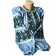 """Жіноча вишита сорочка (блузка) """"Ройзет"""" (Женская вышитая рубашка (блузка) """"Ройзет"""") BI-0039, фото 2"""
