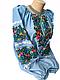 """Жіноча вишита сорочка (блузка) """"Ройзет"""" (Женская вышитая рубашка (блузка) """"Ройзет"""") BI-0039, фото 4"""