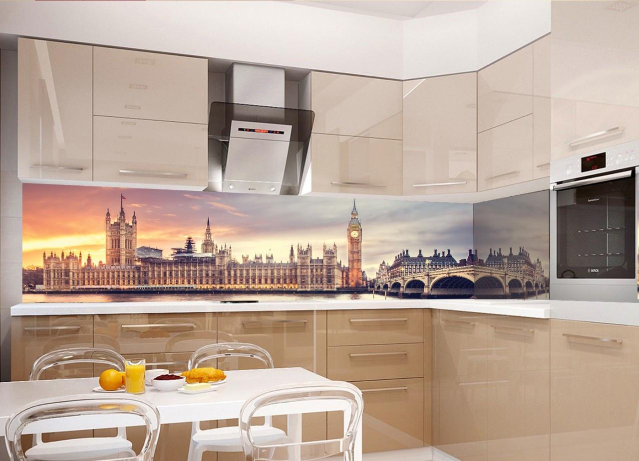 Кухонный фартук Лондон полноцветная фотопечать пленка для стеновых панелей Англия Биг-бен 600*2500 мм