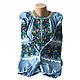 """Жіноча вишита сорочка (блузка) """"Ройзет"""" (Женская вышитая рубашка (блузка) """"Ройзет"""") BI-0039, фото 3"""