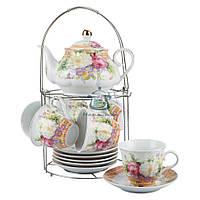 Набор чайный Белый цветок Оселя 21-245-015 14 предметов