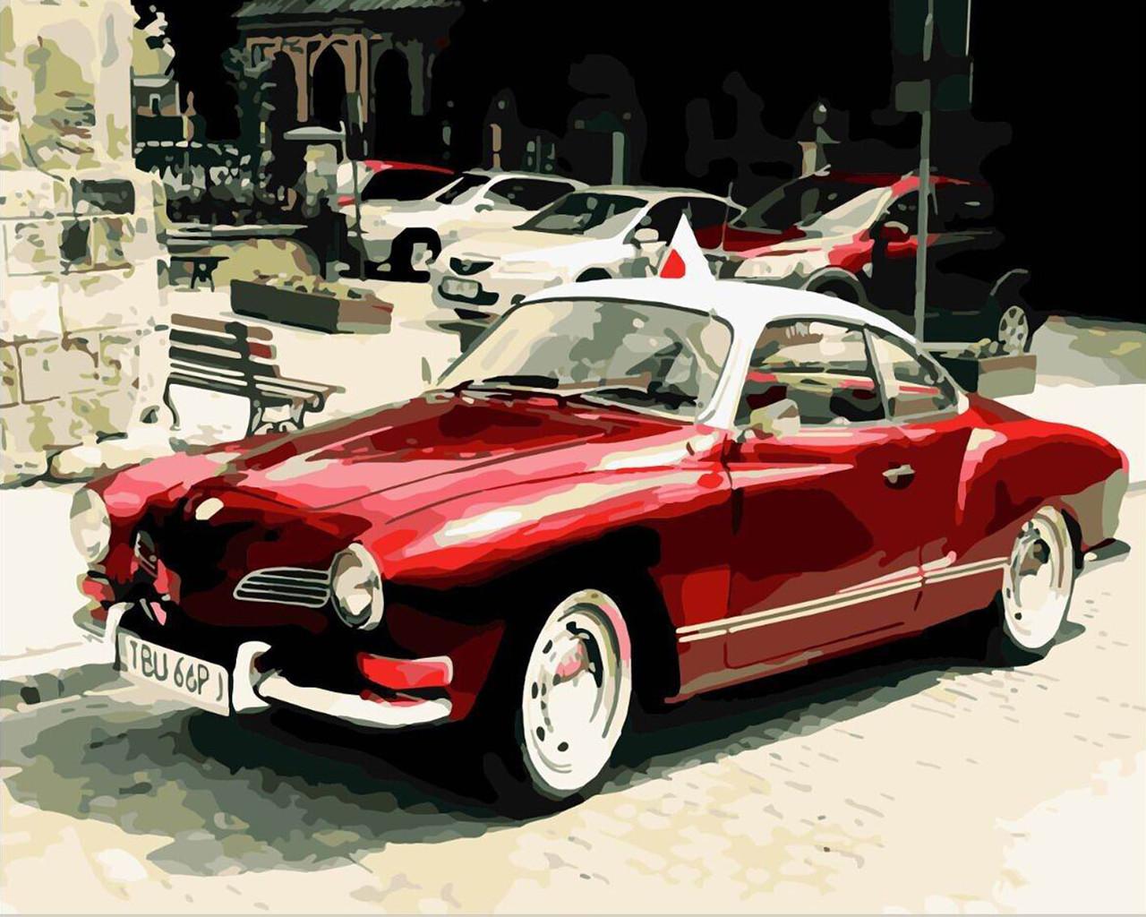 Картина по номерам Ретро авто 40 х 50 см (BRM8909)