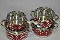 Набор посуды Bohmann BH 0128 red
