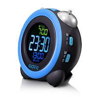Электронный будильник Gotie GBE-300N черно-синий