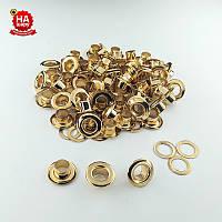 Люверсы для ошейников 5мм (№3) Золото, Турция (100шт)