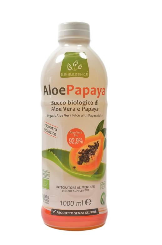Cок  Алоэ Вера  и папайя Aloe Papaya органический Benessence ,1л.