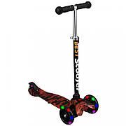 Детский трехколесный самокат MINI Best Scooter  1203  Графический рисунок