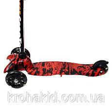 Детский трехколесный самокат MINI Best Scooter  1203  Графический рисунок, фото 2