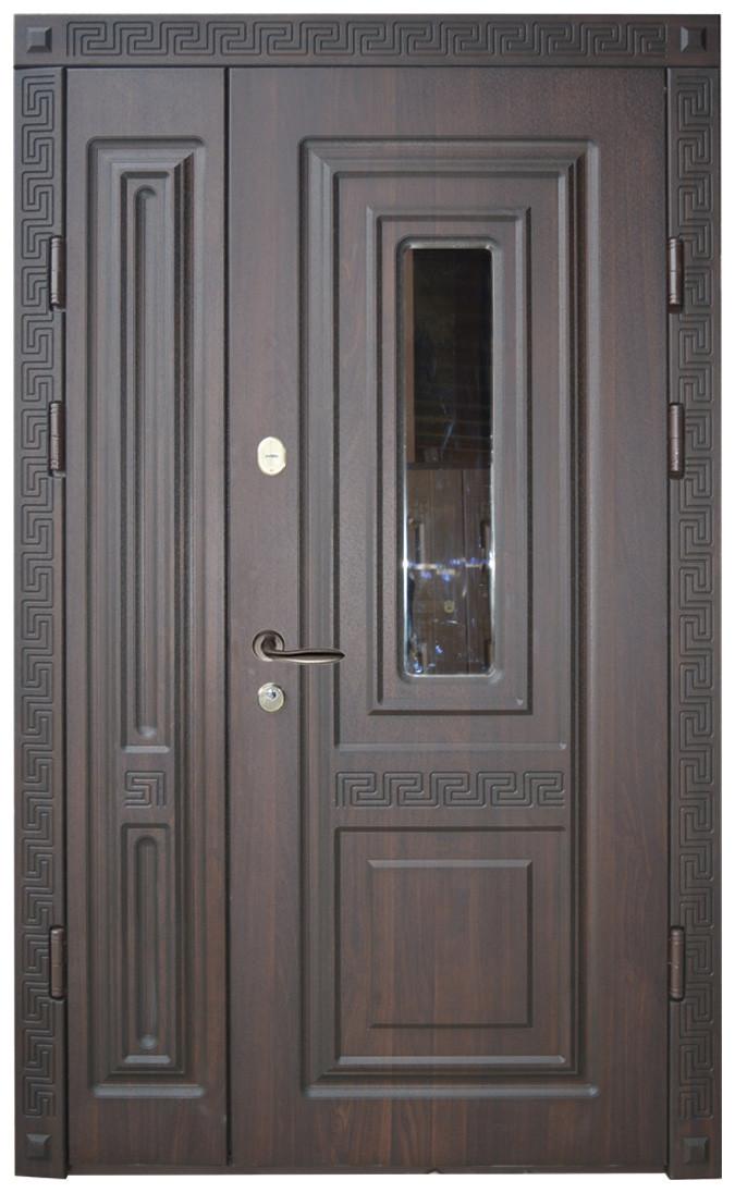 Двери уличные, модель 18.PRESTIGE 1170*2050, VINORIT, стеклопакет, объемные элементы, патина