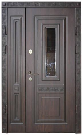 Двери уличные, модель 18.PRESTIGE 1170*2050, VINORIT, стеклопакет, объемные элементы, патина, фото 2