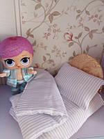Кровать и постель для кукол Лол. Набор.