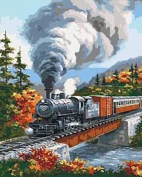 Картина по номерам Дорога через осенний лес 40 х 50 см (KH2514)