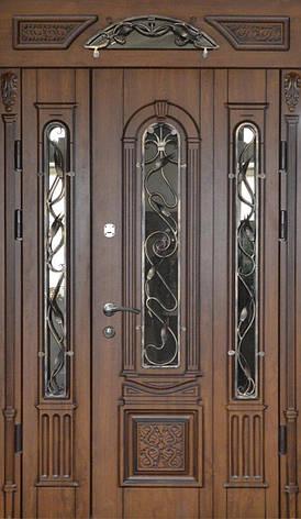 Двери уличные, PRESTIGE 1170*2050, модель 20-51, полуторная, коробка 90 мм, карниз с зеркалом, фото 2