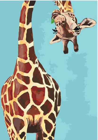 Картина по номерам Забавный жираф 35 х 50 см (KH4061)