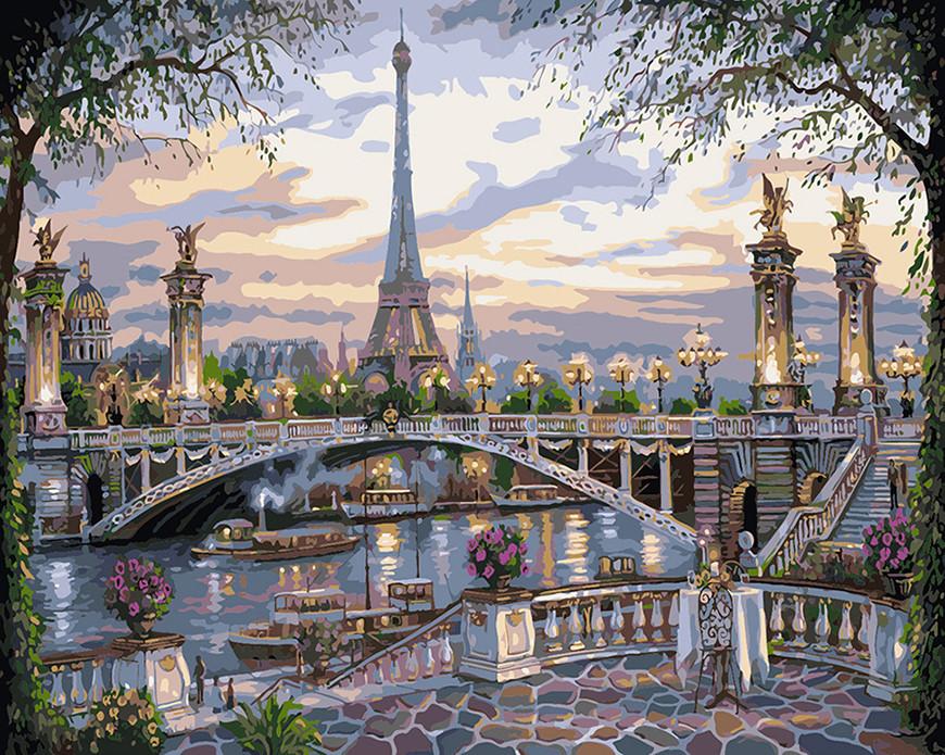 Картина по номерам Воспоминание о Париже 40 х 50 см (KHO1148)
