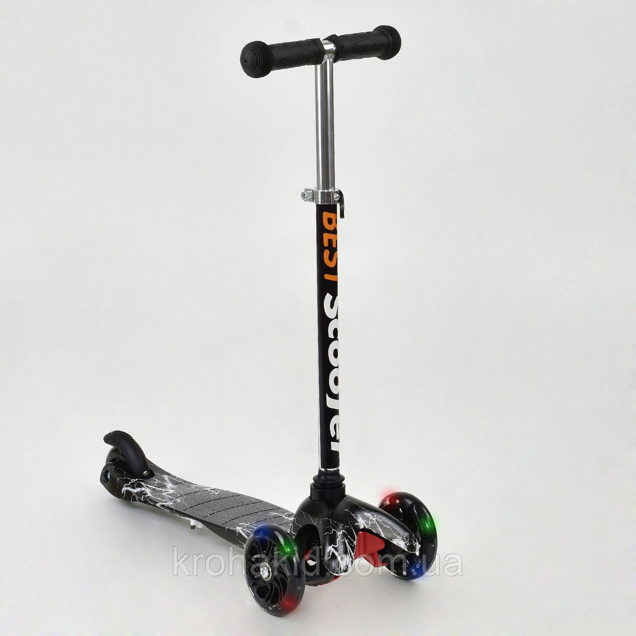 Самокат Best Scooter  1287  Mini  Графический рисунок (черно-белый)