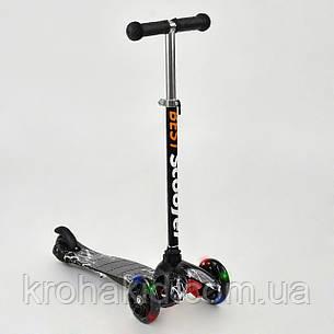 Самокат Best Scooter  1287  Mini  Графический рисунок (черно-белый), фото 2