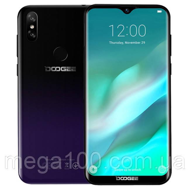 "Смартфон Doogee Y8 фиолетовый (""6,1 дюймов, памяти 3/16Гб, батарея 3400мАч"
