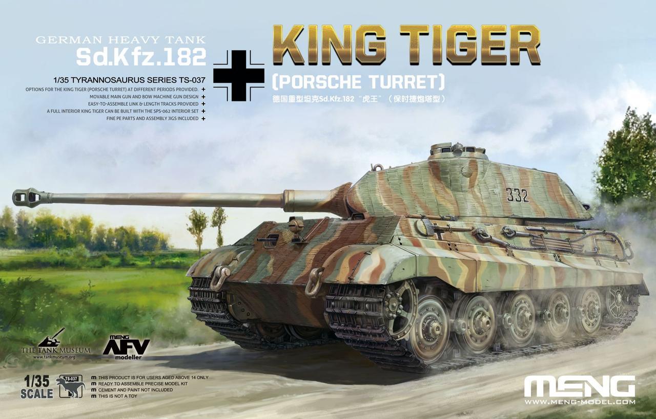 Sd.Kfz.182 Kingtiger (Porsche Turret) 1/35 MENG MODEL TS-037