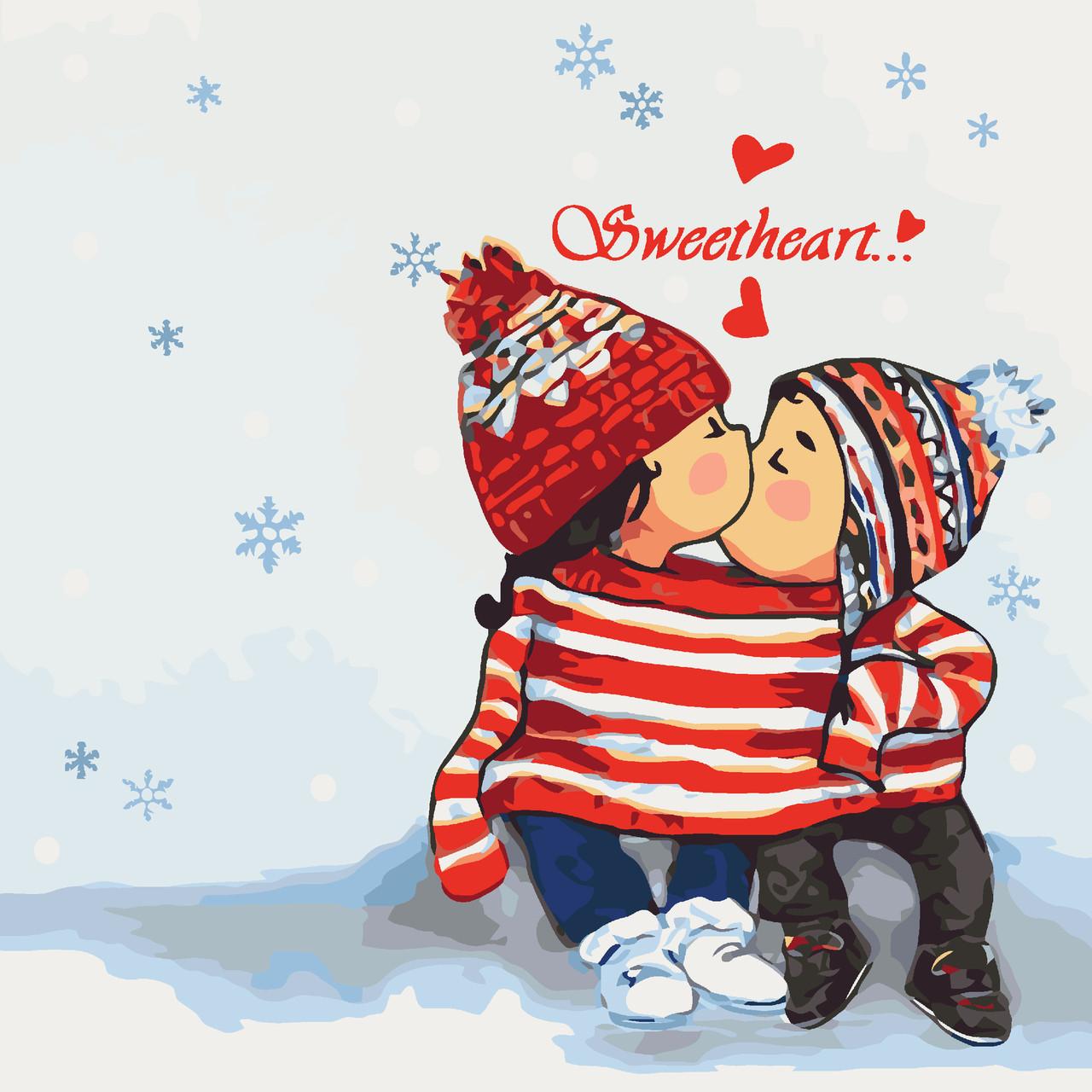 Картина за номерами Sweetheart 40 х 40 см (KHO2326)