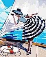Картина по номерам Прогулка на яхте 40 х 50 см (KHO2644)
