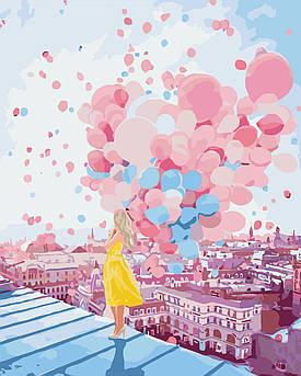 Картина по номерам Рассвет над крышами Парижа 40 х 50 см (KHO2697)