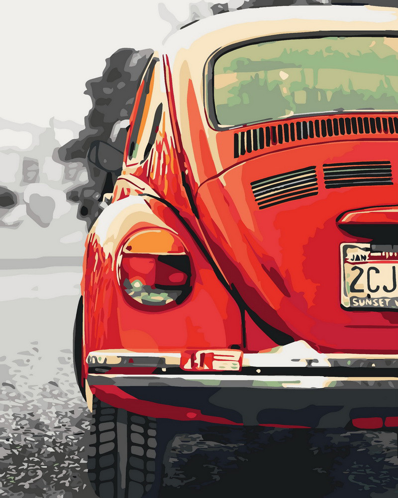 Картина по номерам Авто в стиле ретро 40 х 50 см (KHO3519)
