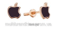 Золотые Серьги Apple