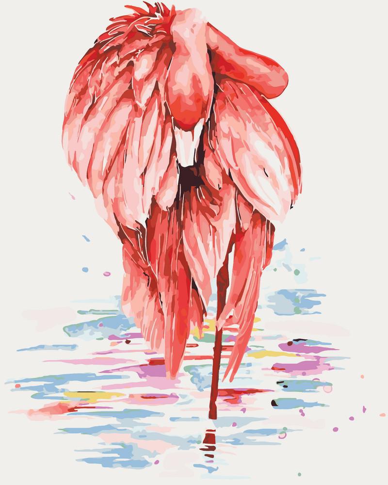 Картина по номерам Изящный фламинго 40 х 50 см (KHO4068)