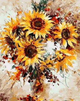 Картина по номерам Солнечные цветы 40 х 50 см (MR-Q1121)