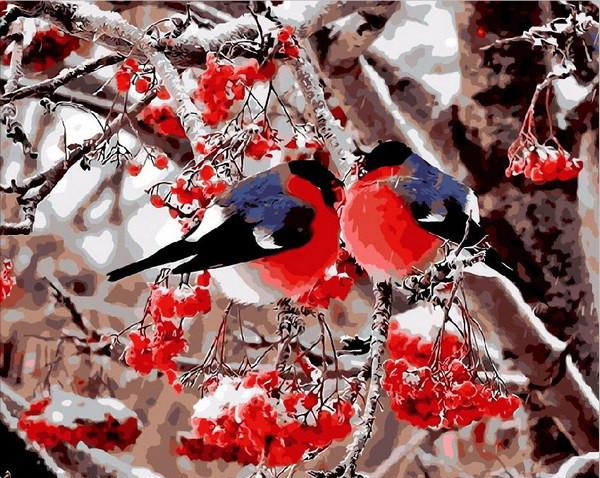 Картина по номерам Снегири 40 х 50 см (MR-Q2087)