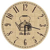 Годинник дерев'яний, 36х36, Класична кухня, фото 1