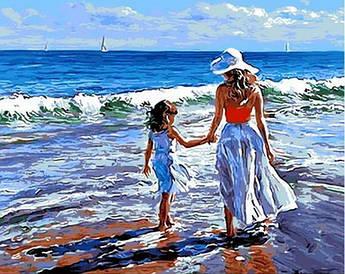 Картина по номерам Прогулка с мамой 40 х 50 см (MR-Q723)