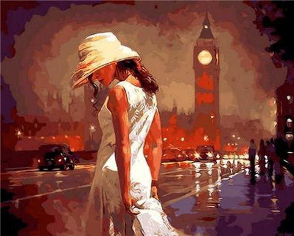 Картина по номерам Вечер в Лондоне 40 х 50 см (MR-Q883)