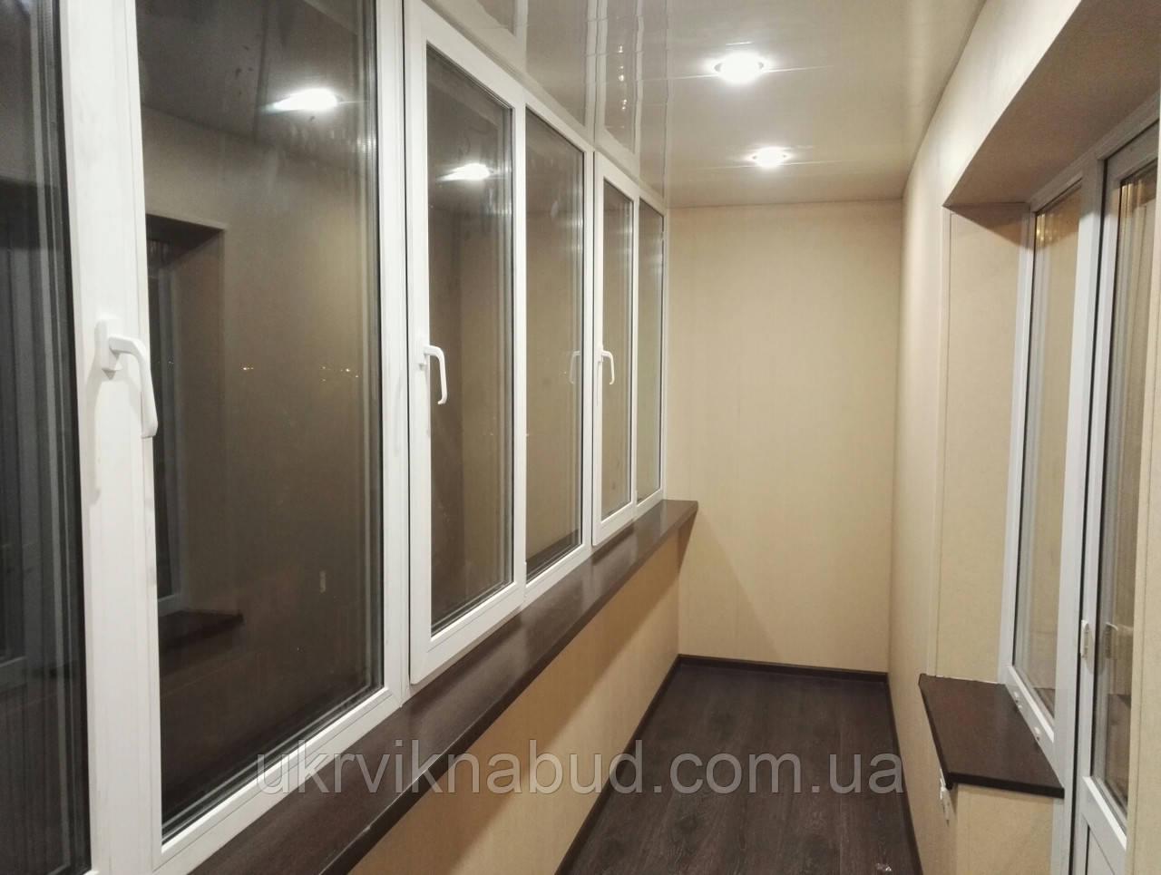 Внутренняя обшивка балконов цена Киев