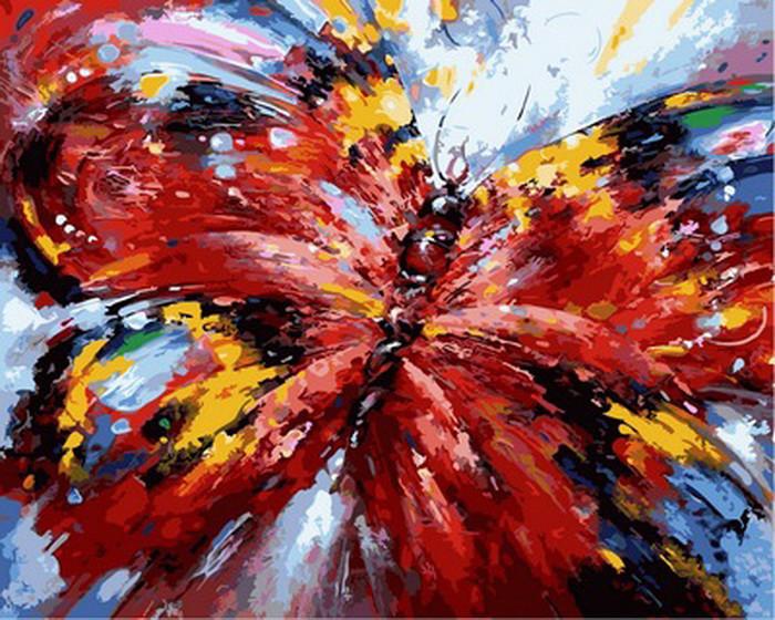 Картина по номерам Алая бабочка 40 х 50 см (NB884)