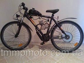 Веломотор ОРИГИНАЛ для велосипеда в сборе с ручным стартером 80 сс, фото 2