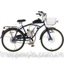 Веломотор ОРИГИНАЛ для велосипеда в сборе с ручным стартером 80 сс, фото 3