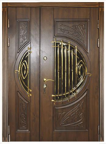 Двери уличные, модель 35 Премиум, VINORIT, MOTTURA, сердцевина MUL-T-LOCK, 3D фрезеровка и патина с двух стор, фото 2