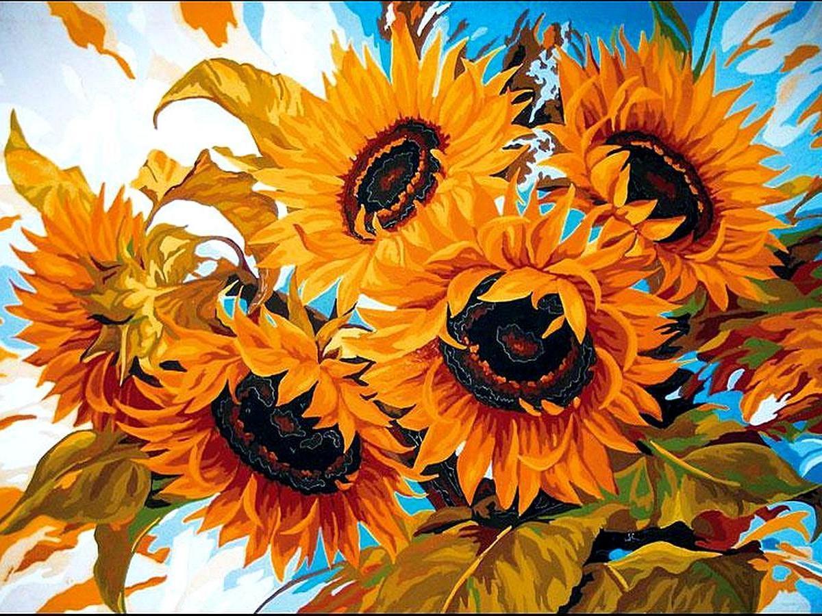 Картина за номерами Сонячний букет 30 х 40 см (VK079)