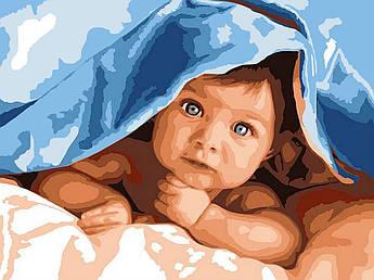 Картина по номерам Любознательный малыш 30 х 40 см (VK193)