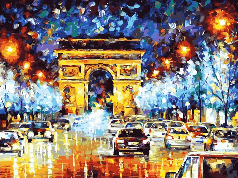 Картина по номерам Вечерний Париж 40 х 50 см (VP067)