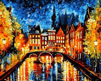 Картина по номерам Ночь в Амстердаме 40 х 50 см (VP071)