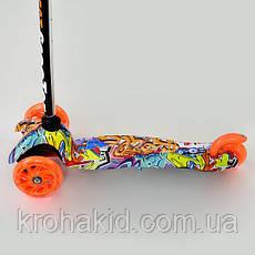 Самокат Best Scooter  1289  Mini  Графический рисунок (Оранжевый), фото 2