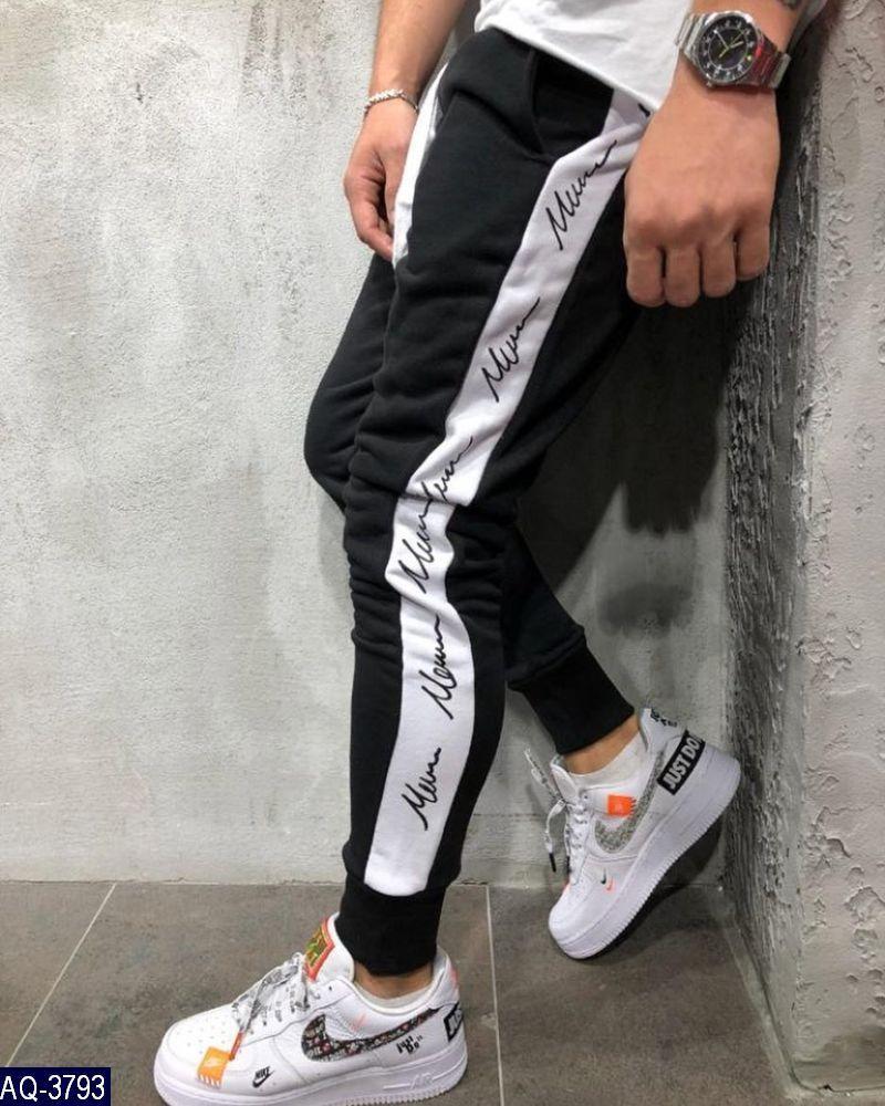 Мужские штаны джоггеры Ткань: трехнить на флисе, производство турция Цвет: джинс, графит, хаки