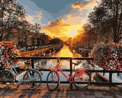 Картина по номерам Каналы Амстердама 40 х 50 см (VP640)